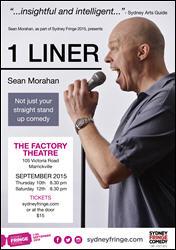1 Liner Poster - Sydney Fringe Comedy 2015